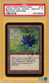 Alpha Black Lotus PSA/DNA Gem Mint 10 front